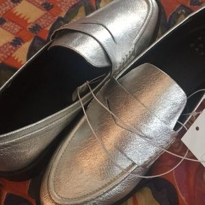 A new day silver loafers